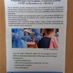 Plakat na temat zasad szczepienia trzecią dawką