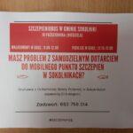 Plakat dotyczący szczepieniobusa