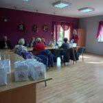 Spotkanie pracowników GOPS z członkami Związku Emerytów i Rencistów koło w Sokolnikach.